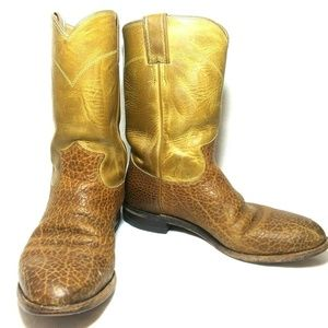Justin Boots Mens 8D Cowboy Style # 3425 Made USA